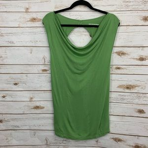 Soft Surroundings Green Sleeveless Twist Back Top